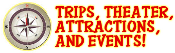 Trips Theater Attractions and Events Graphic